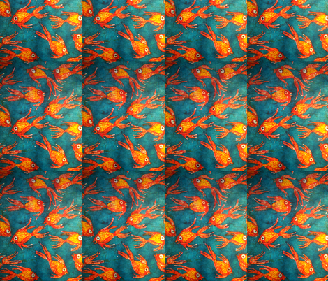 Kate's fish batik, basic repeat fabric by hooeybatiks on Spoonflower - custom fabric