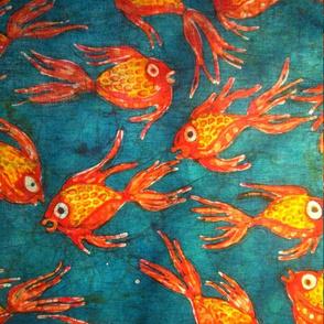 Kate's fish batik, basic repeat