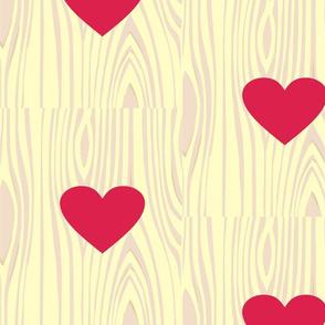 wood grain heart-ed