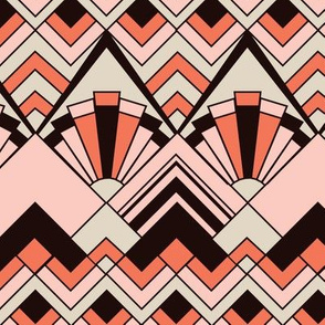 Pink Gold Art Deco