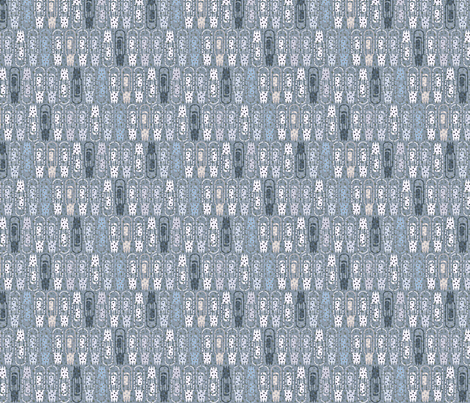 Vacuum Tube Danish Blue-1/3 fabric by glimmericks on Spoonflower - custom fabric