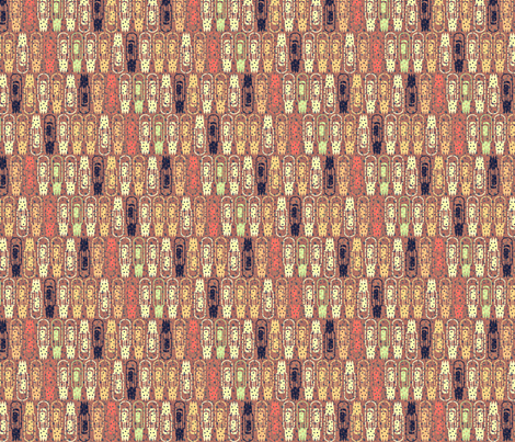 Vacuum Tube Golden Forest-1/3 fabric by glimmericks on Spoonflower - custom fabric