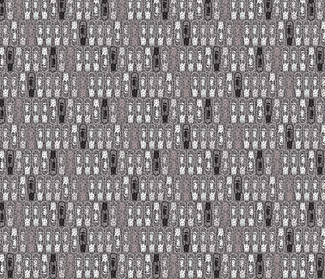 Vacuum Tube Phased Gray-1/3 fabric by glimmericks on Spoonflower - custom fabric