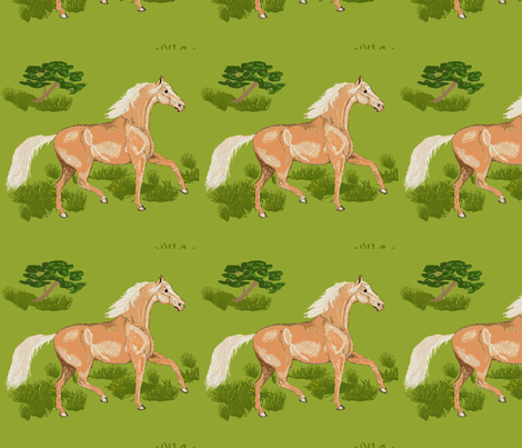 palomino_horse fabric by khowardquilts on Spoonflower - custom fabric