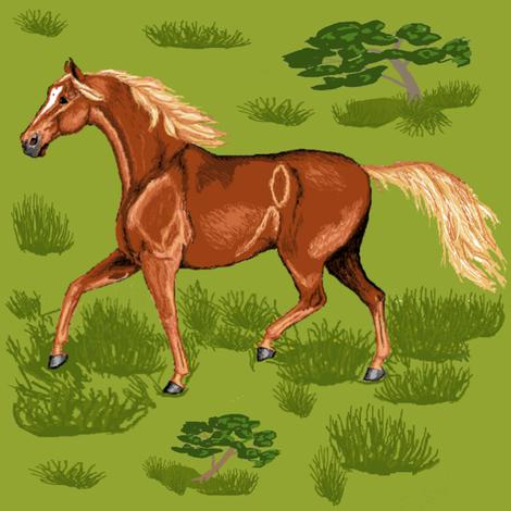 sorrel_horse fabric by khowardquilts on Spoonflower - custom fabric