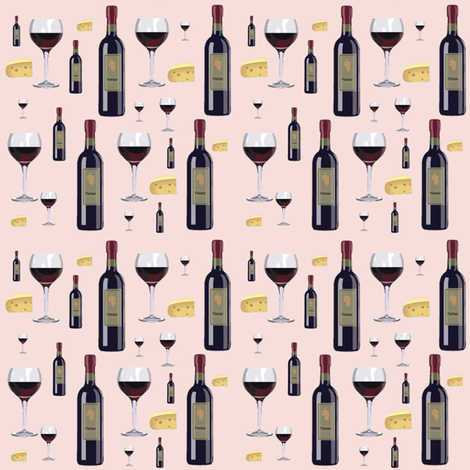 wine & cheese fabric by krs_expressions on Spoonflower - custom fabric
