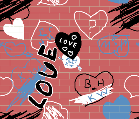 love_graffiti fabric by khowardquilts on Spoonflower - custom fabric