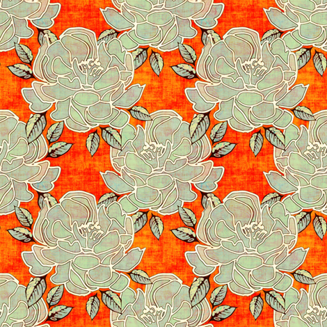 Blossoms Blaze fabric by joanmclemore on Spoonflower - custom fabric