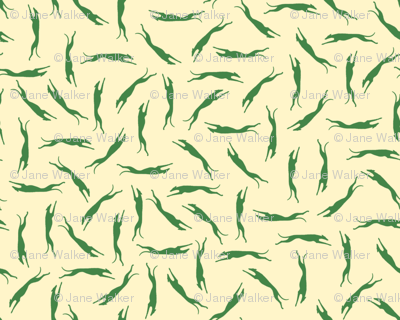 Green Greyhound Ditsy
