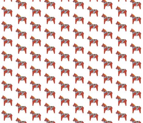 Dala horse small fabric by susanferris on Spoonflower - custom fabric