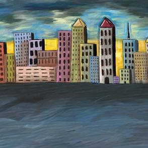Oil Cityscape