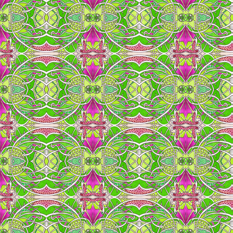 Lime and Magenta Christmas fabric by edsel2084 on Spoonflower - custom fabric