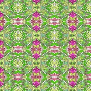 Lime and Magenta Christmas