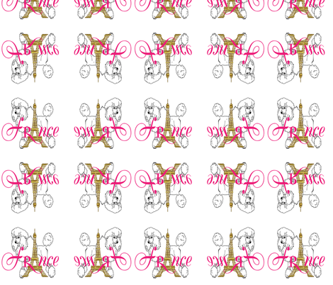 FRANCE fabric by bluevelvet on Spoonflower - custom fabric