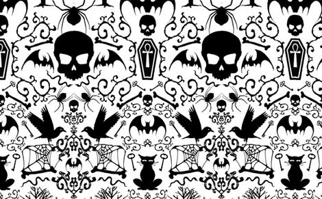 313 Gothic  fabric by ~lilibat~ on Spoonflower - custom fabric