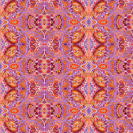 Sunny Psychedelic Sunday in July fabric by edsel2084 on Spoonflower - custom fabric