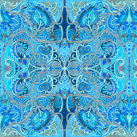 Love is Blue (with a touch of lavender) fabric by edsel2084 on Spoonflower - custom fabric