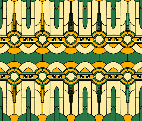 Art_Deco_reimagined fabric by mammajamma on Spoonflower - custom fabric