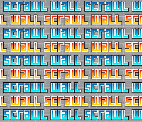 wall scrawl fabric by sef on Spoonflower - custom fabric