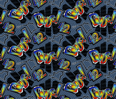 dude42 fabric by glimmericks on Spoonflower - custom fabric