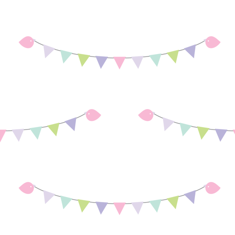 sweet girl - bunting fabric by misstiina on Spoonflower - custom fabric