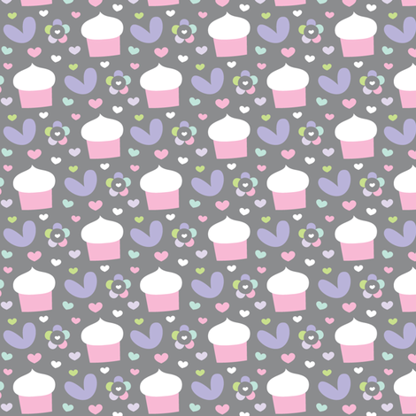 sweet girl - cupcakes fabric by misstiina on Spoonflower - custom fabric