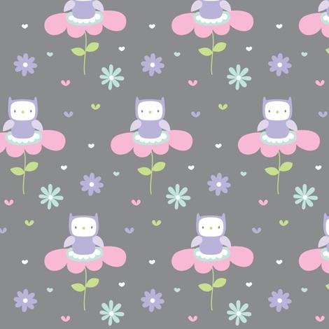 sweet girl - owls fabric by misstiina on Spoonflower - custom fabric