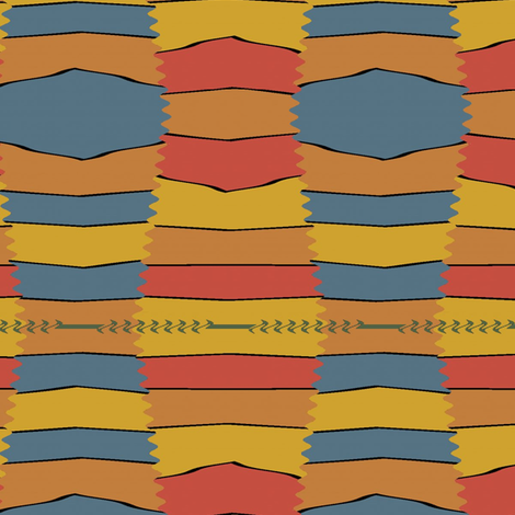 Pakistani Tent (Blue) fabric by david_kent_collections on Spoonflower - custom fabric