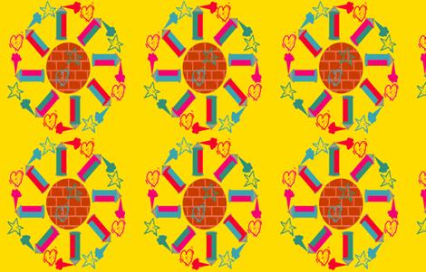 Girly Graffiti fabric by jubilli on Spoonflower - custom fabric