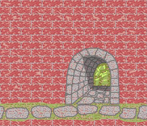 tunnel_art_brick_fq_plus fabric by khowardquilts on Spoonflower - custom fabric