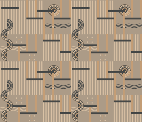 Deco Tan fabric by poetryqn on Spoonflower - custom fabric
