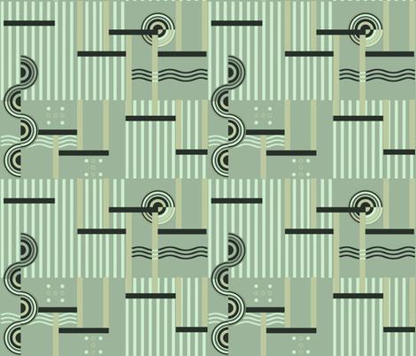 Deco Green fabric by poetryqn on Spoonflower - custom fabric