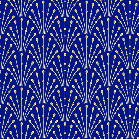 Art Deco Beads Blue Fabric Coggon Roz Robinson