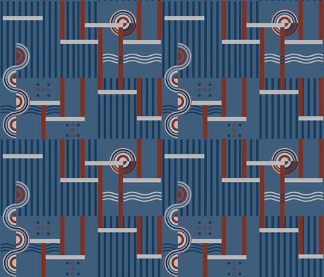 Deco Grey fabric by poetryqn on Spoonflower - custom fabric
