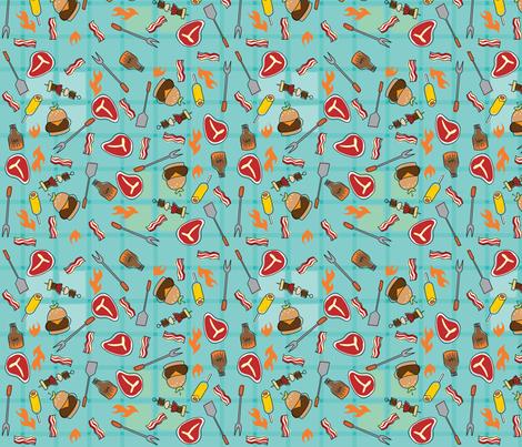 Stuff for Dudes, Mini BBQ fabric by cynthiafrenette on Spoonflower - custom fabric