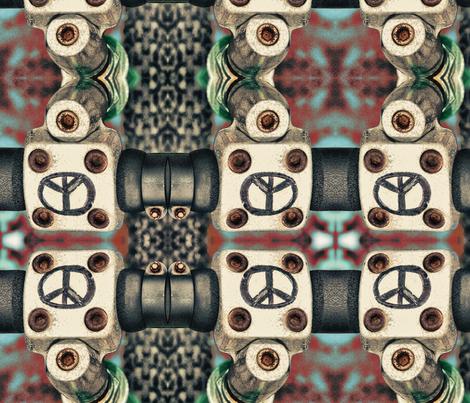 peace on handle bars fabric by garveyann on Spoonflower - custom fabric