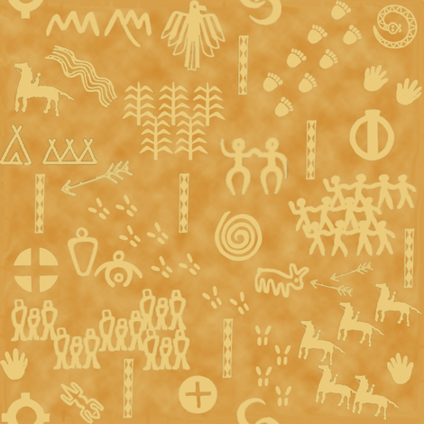 The People's Story - Sand fabric by sheila_marie_delgado on Spoonflower - custom fabric