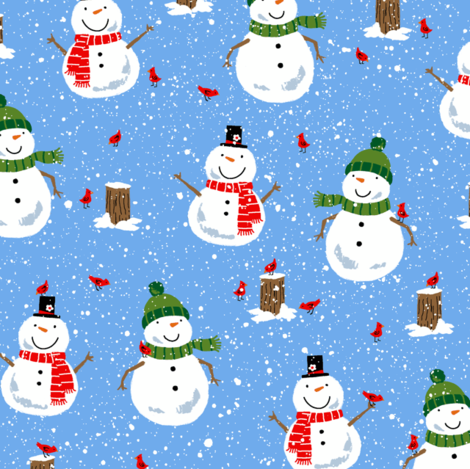 Winter Snowmen fabric by sheena_hisiro on Spoonflower - custom fabric