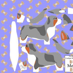 ©2012 Cut & Sew large Cardigan Welsh Corgi - Merle
