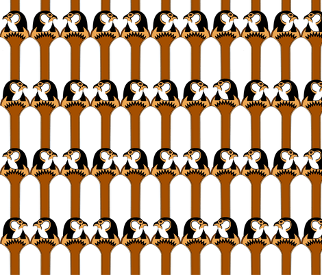 Horus Deco (4 color) fabric by golders on Spoonflower - custom fabric