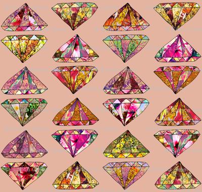 Diamonds on pink