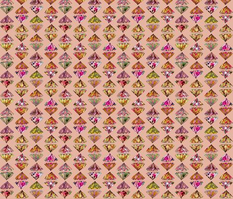 Diamonds on pink fabric by biancagreen on Spoonflower - custom fabric
