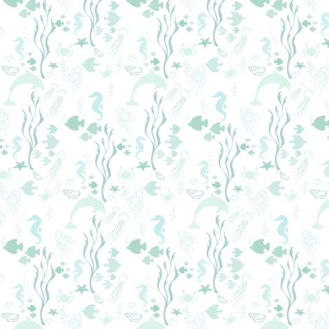 El Mar Caribe - Caribean Sea fabric by dna2011 on Spoonflower - custom fabric