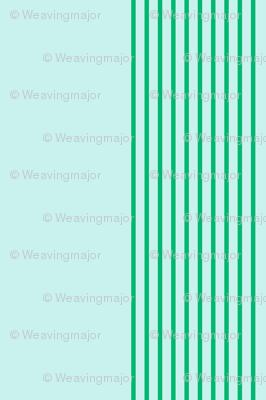 serene stripes (cool mint)