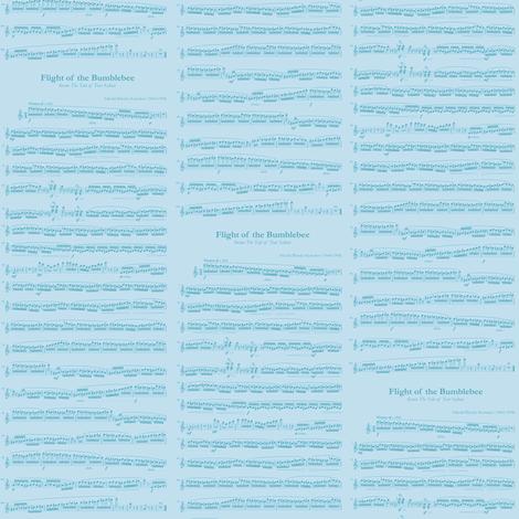 small music blue - Flight of the Bumblebee fabric by weavingmajor on Spoonflower - custom fabric