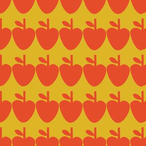 geometric_apple_pattern fabric by gsonge on Spoonflower - custom fabric