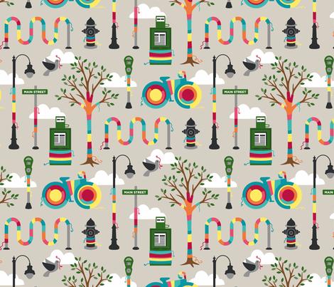 knit graffiti fabric by carcamella on Spoonflower - custom fabric