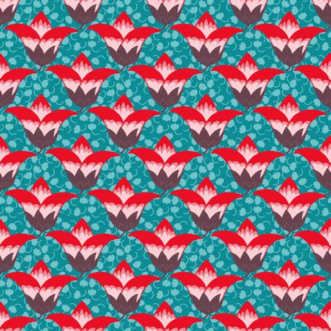 Rubidora's Flora fabric by siya on Spoonflower - custom fabric