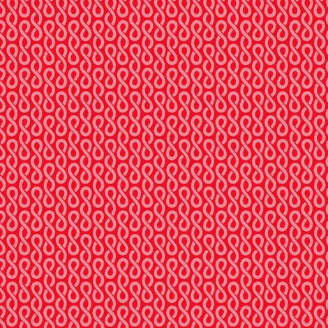 Rubi's Twist - Red fabric by siya on Spoonflower - custom fabric