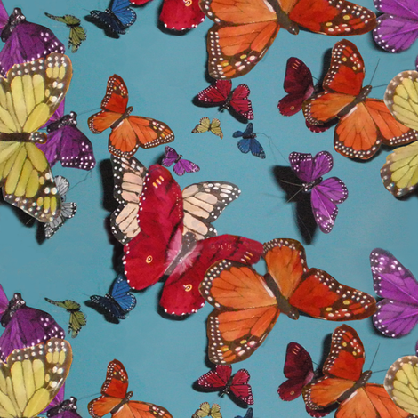 Butterflies and Blue Skies fabric by gimlet on Spoonflower - custom fabric